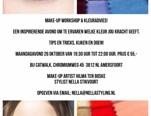 26 oktober Kleuradvies & Make-up workshop