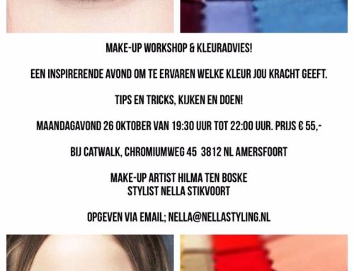 26 oktober Kleuradvies & Make-up workshop